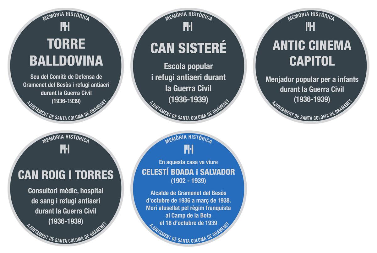 Diseño de placas conmemorativas